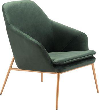 Burklee Green Accent Chair