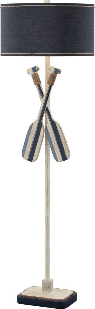 Burkston Blue Floor Lamp