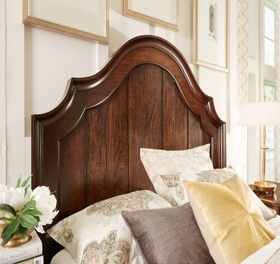 Burnette Brown Cherry 3 Pc Queen Bed