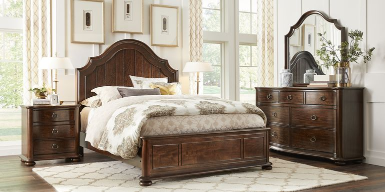 Burnette Brown Cherry 5 Pc King Bedroom