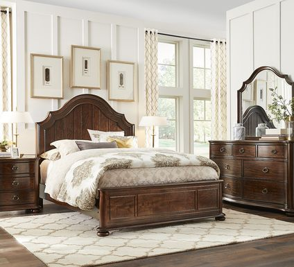 Burnette Brown Cherry 5 Pc Queen Bedroom