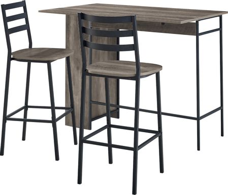 Burton Street Gray 3 Pc Counter Height Table Set
