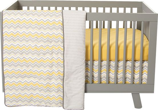 Buttercup Zigzag Yellow 3 Pc Bedding Set