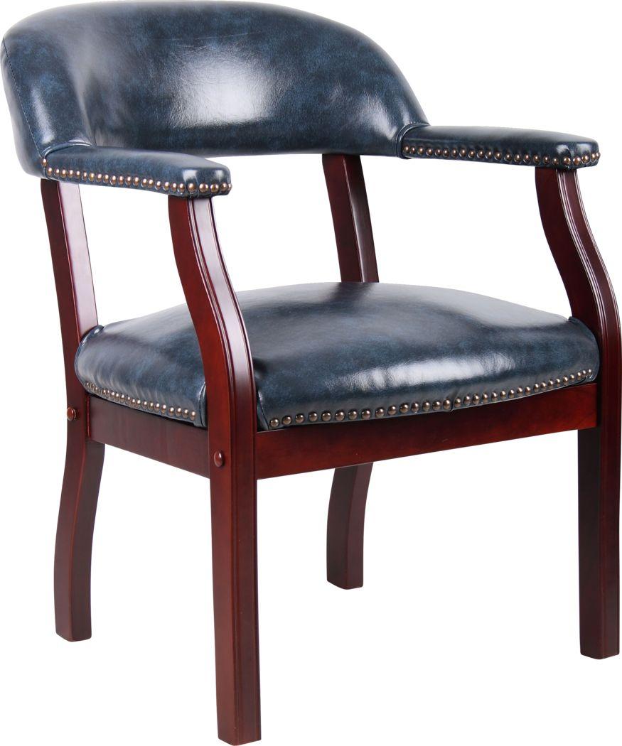 Byres Blue Desk Chair