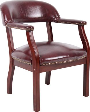 Byres Red Desk Chair
