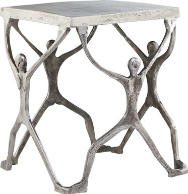 Caballero Silver Accent Table
