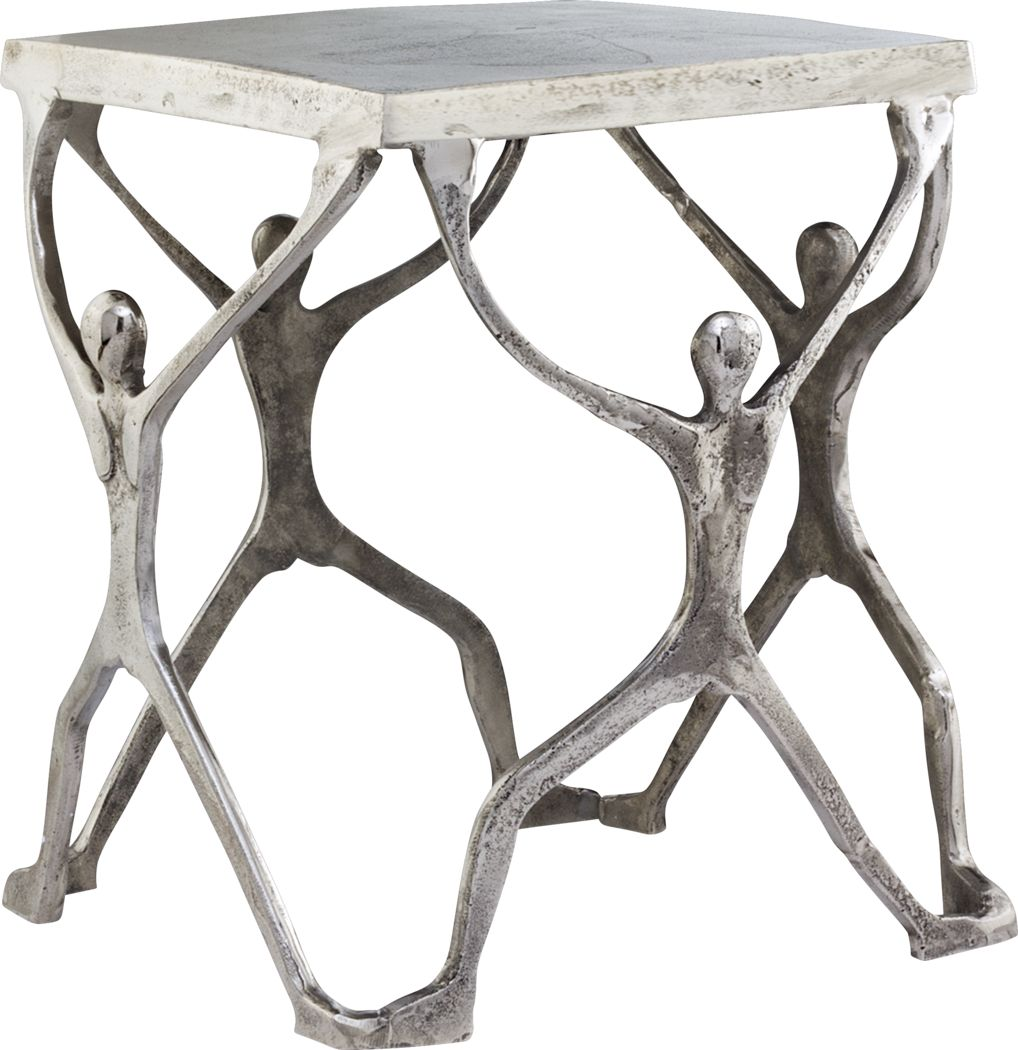 Caballero Silver Accent Table