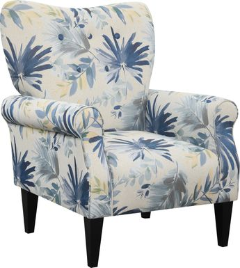 Cabell Blue Accent Chair