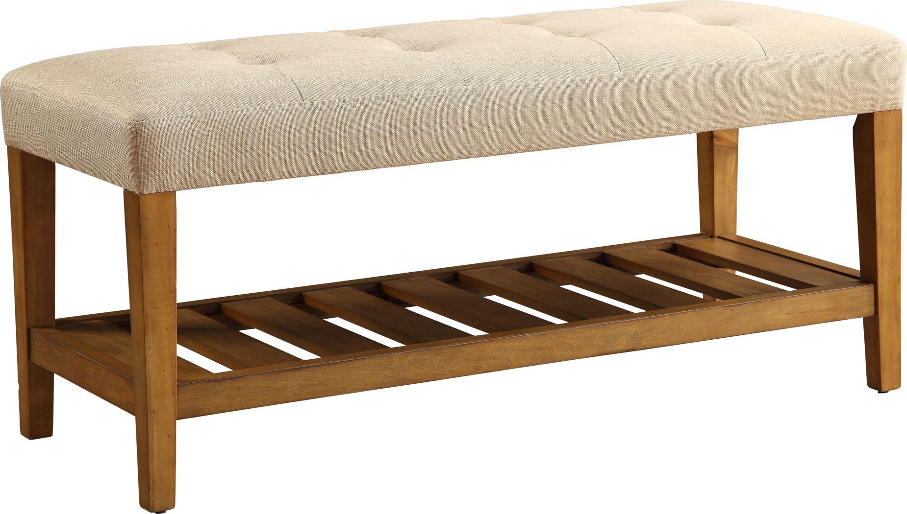 Cacia Beige Bench