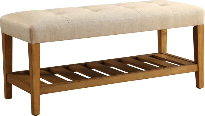 Cacia Beige Bench