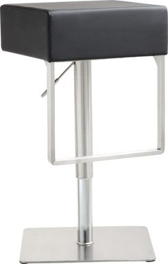 Cadiz Black Adjustable Swivel Barstool