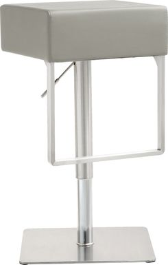 Cadiz Gray Adjustable Swivel Barstool
