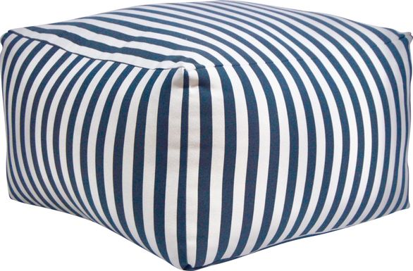 Caelus Black Striped Square Pouf