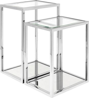 Cagwin Silver Nesting Tables