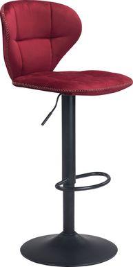 Caitriona Red Adjustable Barstool