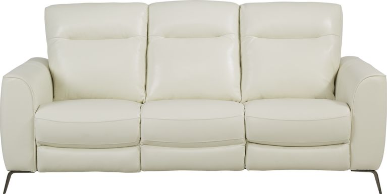 Calabra Ice Leather Dual Power Reclining Sofa