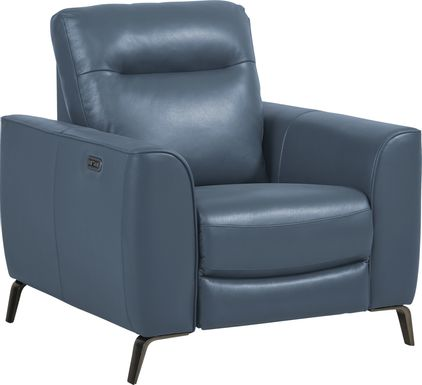 Calabra Ocean Leather Dual Power Recliner