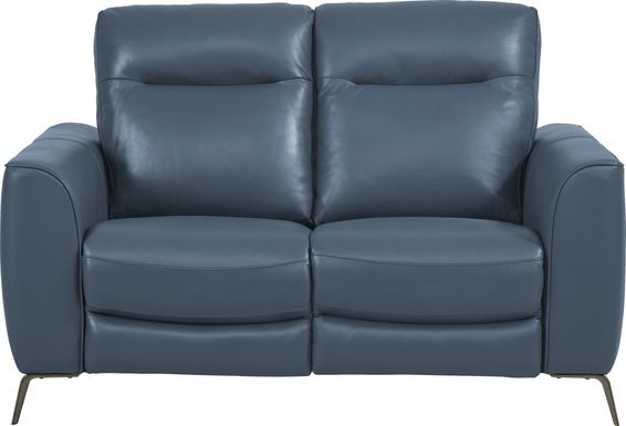 Calabra Ocean Leather Loveseat