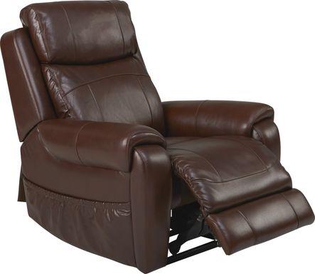 Calden Brown Lift Chair Dual Power Recliner