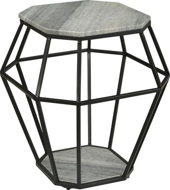 Calva Gray Accent Table