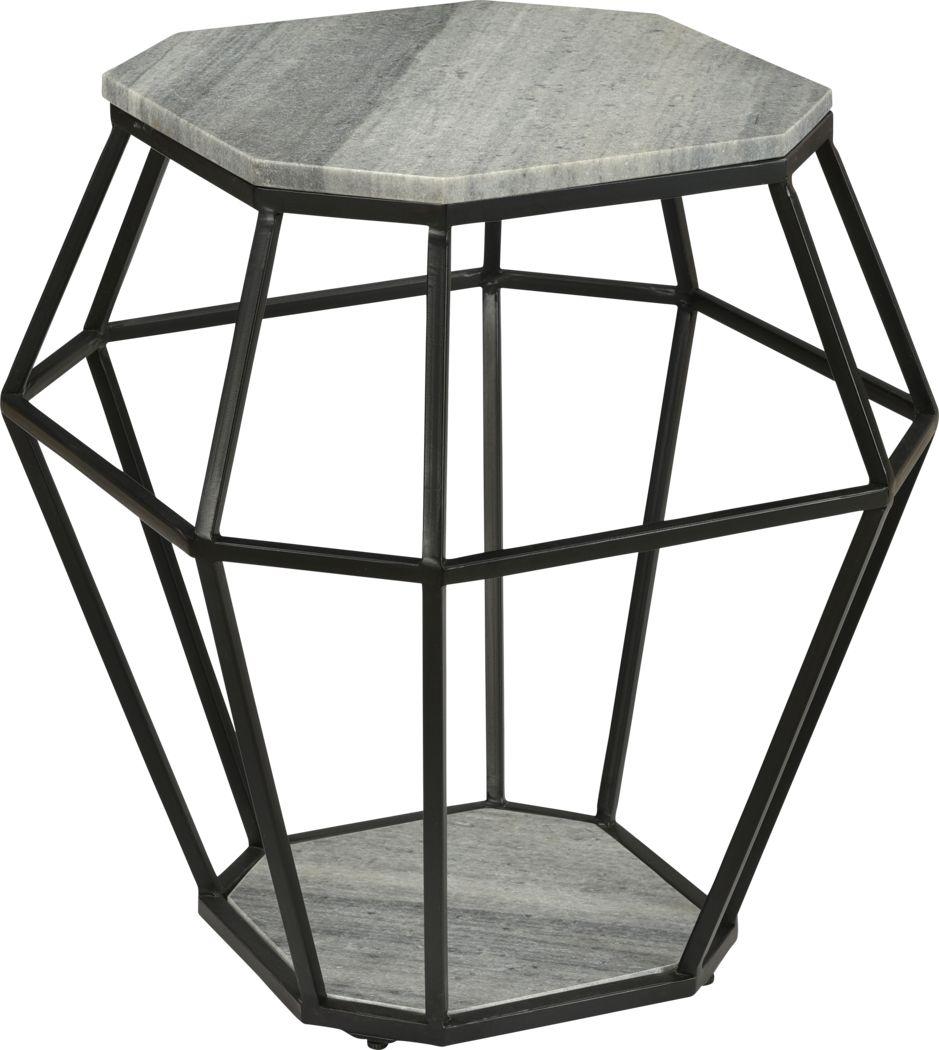 Calva Gray Accent Table