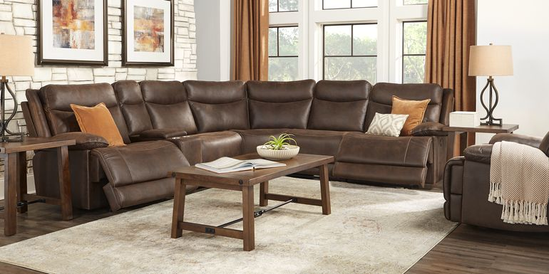 Calverton Chocolate 6 Pc Power Reclining Sectional
