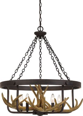 canewood brown chandelier