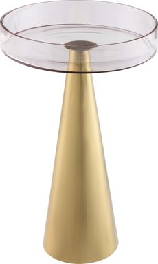 Cansler Gold Small Accent Table