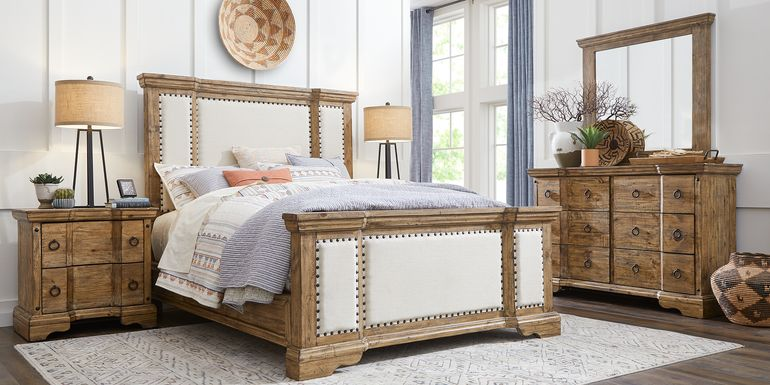 Canyon City Camel 7 Pc Queen Upholstered Bedroom