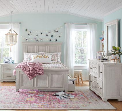 Kids Canyon Lake Gray 5 Pc Twin Panel Bedroom