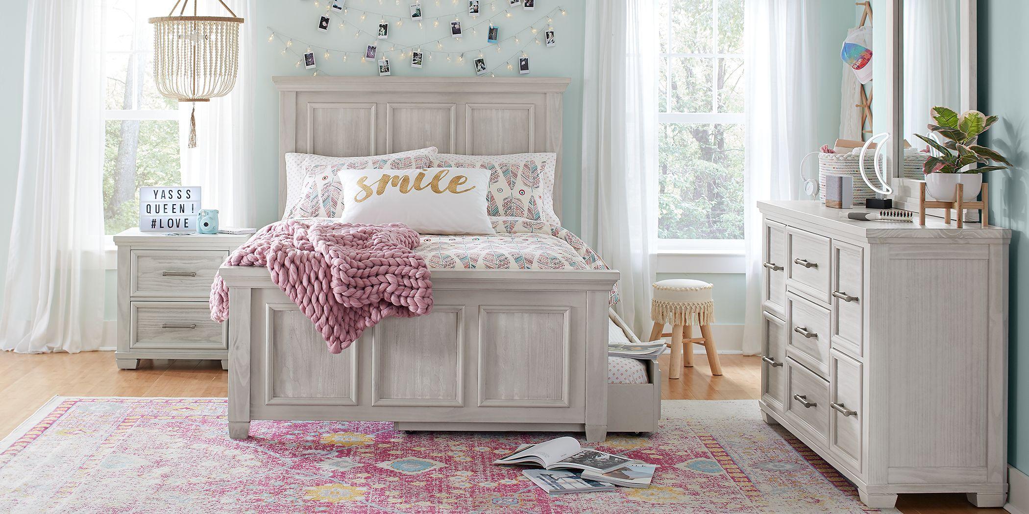 Kids Canyon Lake Ash Gray 5 Pc Twin Panel Bedroom