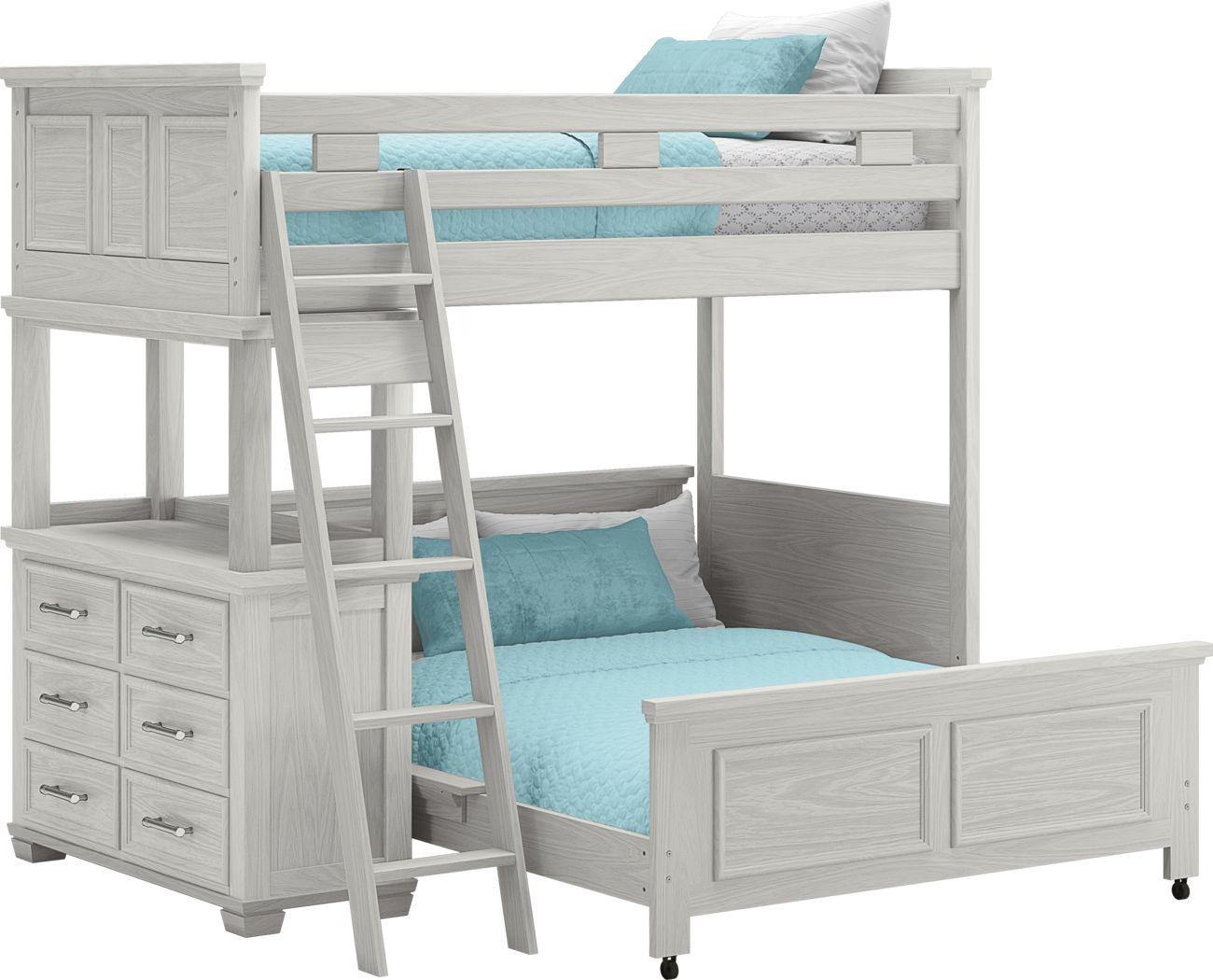 Canyon Lake Ash Gray Twin/Full Loft with Dresser