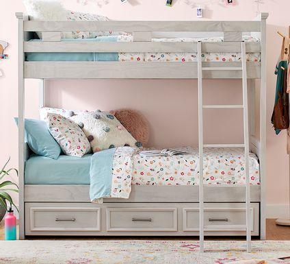 Canyon Lake Ash Gray Twin/Twin Loft with Dresser