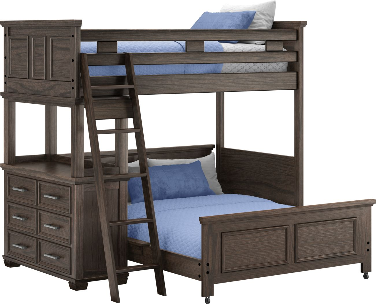 Canyon Lake Java Twin/Full Loft with Dresser