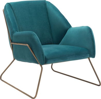 Capricy Green Accent Chair