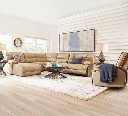 Caranova Camel 9 Pc Dual Power Sectional Living Room