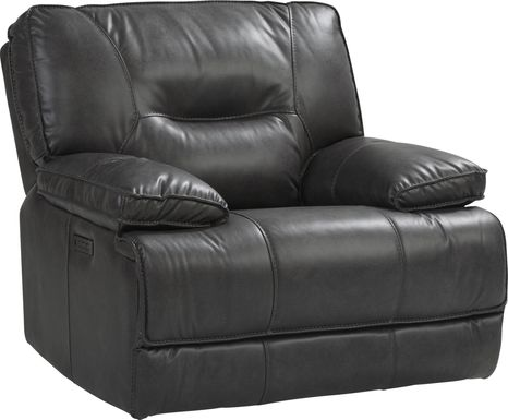 Caranova Dark Gray Dual Power Recliner