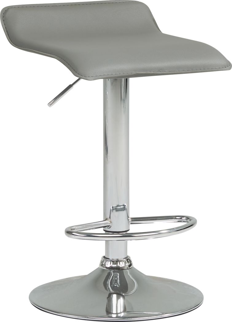 Carey Hills Gray Adjustable Barstool