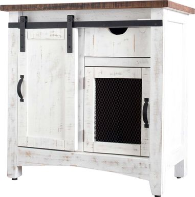 Carlesbad White Accent Cabinet