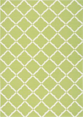 Carlisia Light Green 5' x 8' Indoor/Outdoor Rug