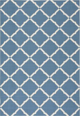Carlisia Navy 5' x 8' Indoor/Outdoor Rug