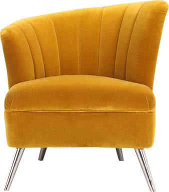 Carmela Yellow Left Side Accent Chair