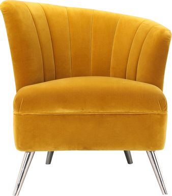 Carmela Yellow Right Side Accent Chair