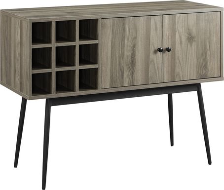 Carnarvon Gray Bar Cabinet