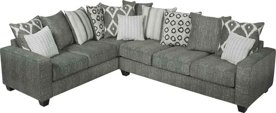 Carole Court Gray 2 Pc Gel Foam Sleeper Sectional