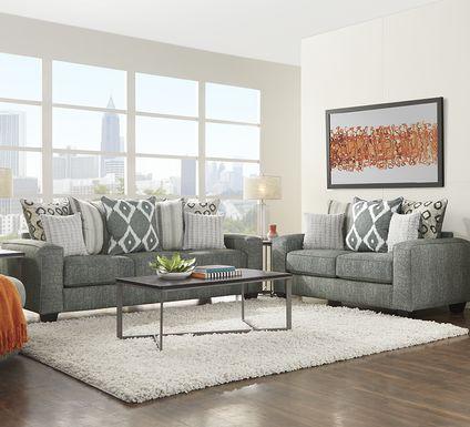 Carole Court Gray 2 Pc Living Room