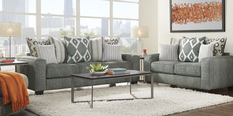 Carole Court Gray 2 Pc Living Room