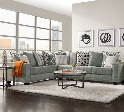 Carole Court Gray 2 Pc Sectional