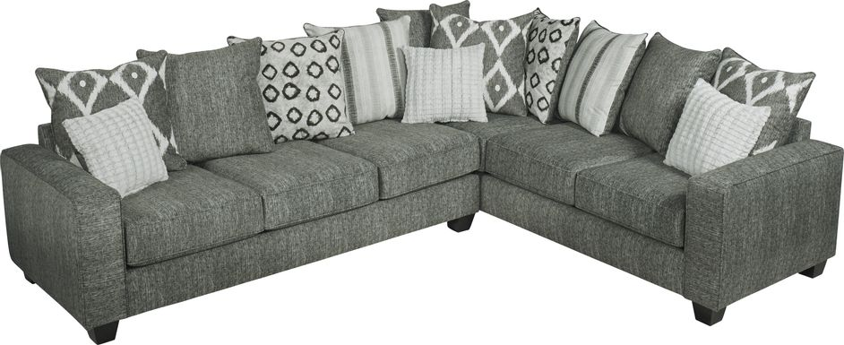 Carole Court Gray 2 Pc Sleeper Sectional