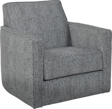 Carole Court Gray Accent Swivel Chair